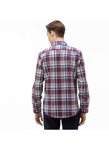 Lacoste Erkek Slim Fit Gömlek CH0075.75R Bordo